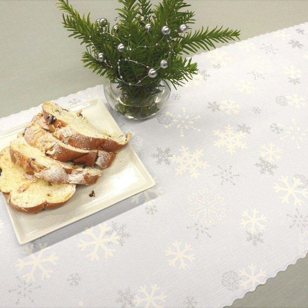 Vánoční ubrus bílý