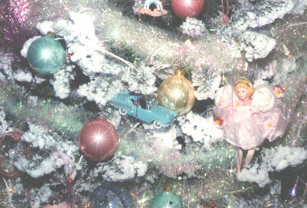 Pastelové vánoční ozdoby