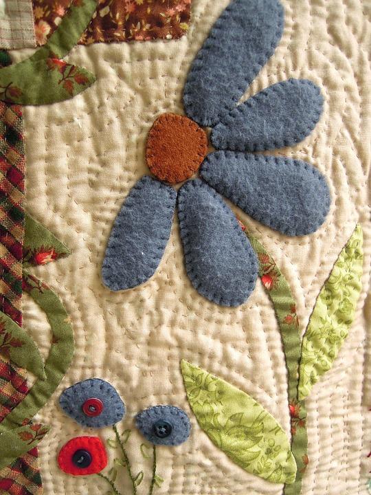 patchwork květina