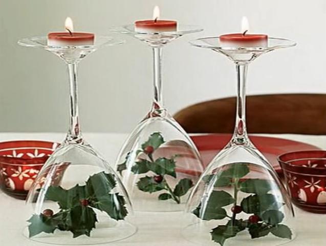 svícny ze sklenic