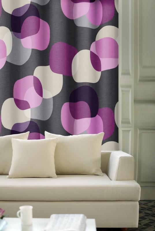 dekorační látka - fialové vzory